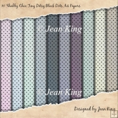10 Shabby Chic Tiny Ditsy Black Dots A4 Papers
