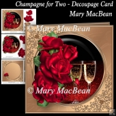 Champagne for Two - Decoupage Card