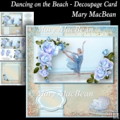 Dancing on the Beach - Decoupage Card