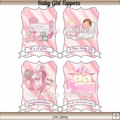 Baby Girl Card Toppers