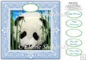 "Panda Perfect - 8"" x 8"" Card Topper"