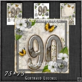 Vintage 90th Birthday Topper Card Kit 1192