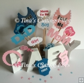 Baby Shower, Birth, party photo props set A