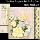 Sunshine Bouquet - Side Scallop Card