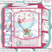 UP UP & AWAY 7.5 Decoupage & Insert Kit All Occasions