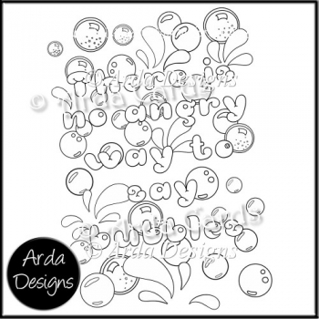 No Angry Bubbles Colouring Page