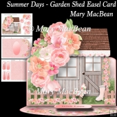 Summer Days - Garden Shed Easel Card