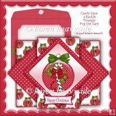 Candy Cane 2 Bauble Triangle Pop Out Card