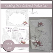 Wedding Bells Scalloped Pocket Card
