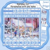 WINTER COTTAGE Christmas 7.5 Quick Card Kit Create Any Name