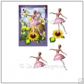 Sunflower Ballerina Decoupage