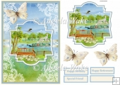 Boating down the river A5 card