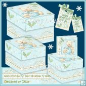 Christmas Bauble Bear Gift Boxes
