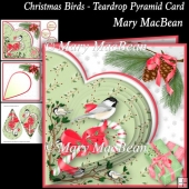 Christmas Birds - Teardrop Pyramid Card