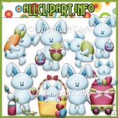 Bobby Bunny Loves Easter Commercial Use Clip Art