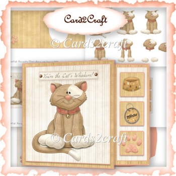 Pussycat offcut card set