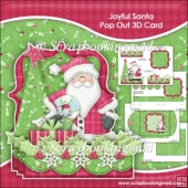 Joyfal Santa Pop Out 3D Card & Envelope