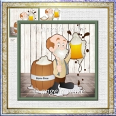 The best home brew 7x7 card with decoupage