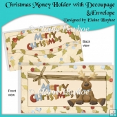 Christmas Money Holder with Decoupage & Envelope