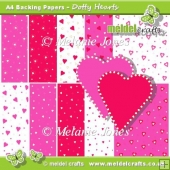 Dotty Hearts Backing Papers