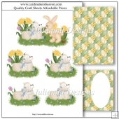 Easter Lamb and Friends Decoupage Set