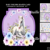 Baby Unicorn Shaped Card