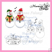 Carol Snowmen and Sentiment Digital Stamps