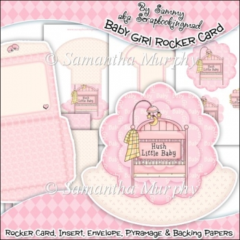 Baby Girl Rocker Card Download