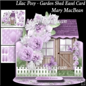 Lilac Posy - Garden Shed Easel Card