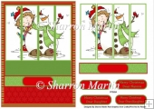 CDS23 Its cold snowman & Girl Quick Card