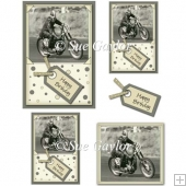 Men's Happy Birthday (Motorbike) Card Toppers