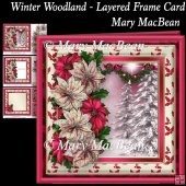 Winter Woodland - Layered Frame Card