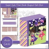 Super Gals Pink Book Shaped Gift Box