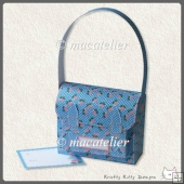 Mini Satchel Gift Box: Blue Roses