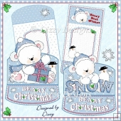 Beary Christmas Bears - Two Mini Easel Cards