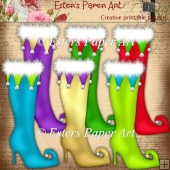 Christmas Elf Boots 2 Clip Art