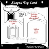 Shaped Top Card Template