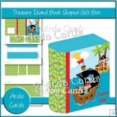 Treasure Island Book Shaped Gift Box