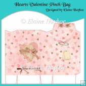 Hearts Valentine Pinch Bag