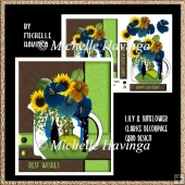 Lily & Sunflower Clarice Decoupage Card Design