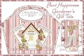 Plant Happiness Gardener's Handled Gift Tote