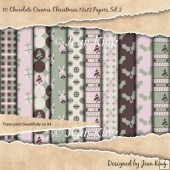 10 Chocolate Creams Christmas 12x12 Papers Set 2