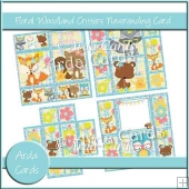 Floral Woodland Critters Neverening Card