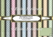 Herringbone Tweed Faux Fabric Set One - Ten A4 Sheets