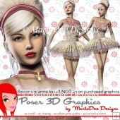 Pretty Ballerina Girl Poser Graphics