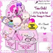 TWIN BABY GIRLS 3D POP UP BOX KIT