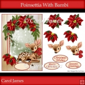 Poinsettia With Bambi
