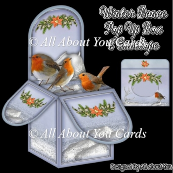 Winter Dance Pop Up Box Card