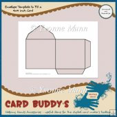 Envelope Template to Fit a 4x4 inch Card � CU/PU