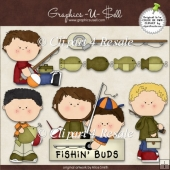 Fishing Tackle 1 ClipArt Graphic Collection
